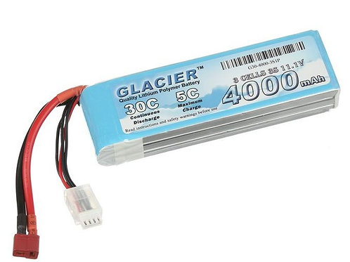 Glacier 30C 4000mAh 3S 11.1V LiPo Battery