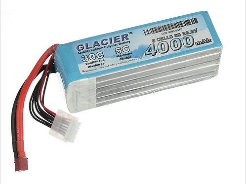 Glacier 30C 4000mAh 6S 22.2V LiPo Battery