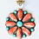 Thumbnail: LARGE SPINY OYSTER AND TURQUOISE CLUSTER PENDANT STERLING