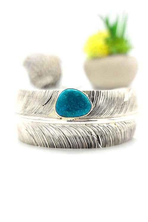 BEN BEGAY FEATHER STERLING CUFF