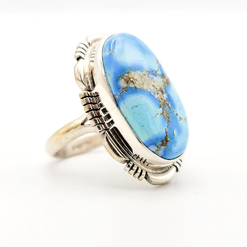 GOLDEN HILLS TURQUOISE STERLING RING