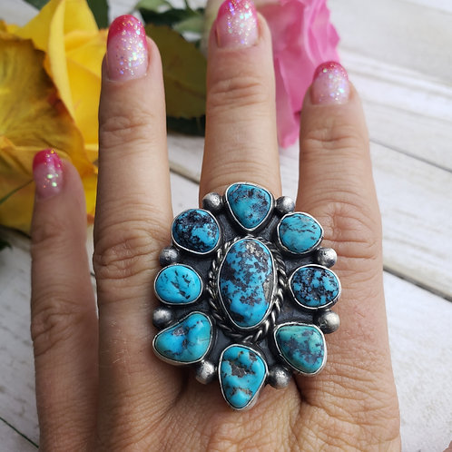 KINGMAN TURQUOISE NUGGET CLUSTER RING