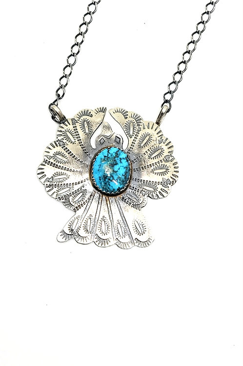 BEAUTIFUL THUNDERBIRD TURQUOISE NECKLACE