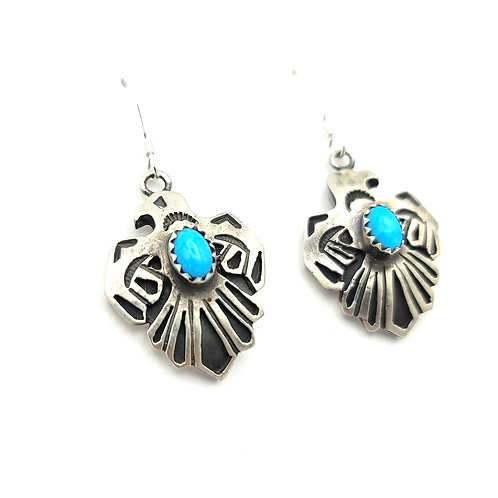 ROBERT BEGAY THUNDERBIRD TURQUOISE EARRINGS