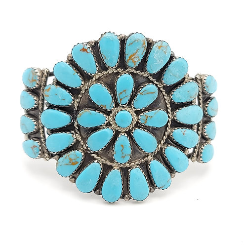 OLD PAWN CLUSTER TURQUOISE BRACELET