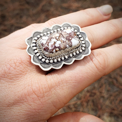 Wild HORSE TURQUOISE RING BY LEIGHA CLEVELAND