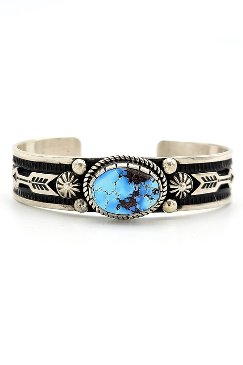 ALBERT JAKE PEACE ARROW GOLDEN HILLS TURQUOISE CUFF