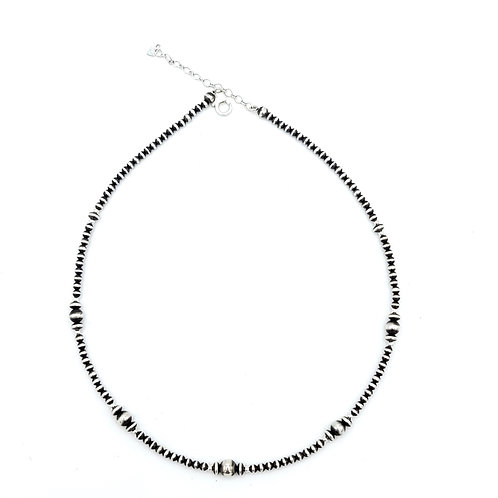 """15.5"""" 2mm-4mm NAVAJO PEARL NECKLACE"""