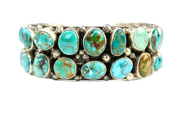 Royston Turquoise Silver Bracelet Native Made Turquoise Bracelet