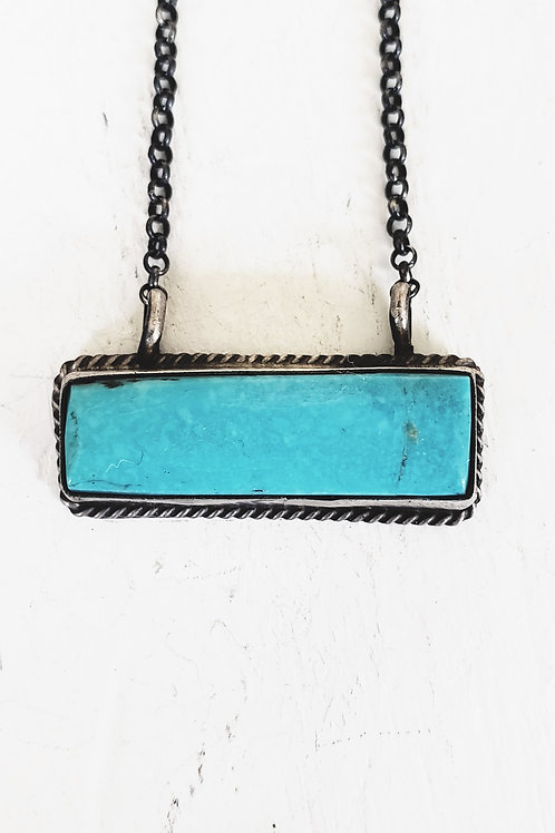 HITCHING POST TURQUOISE BAR NECKLACE