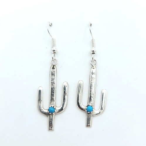 CACTUS STERLING TURQUOISE EARRINGS