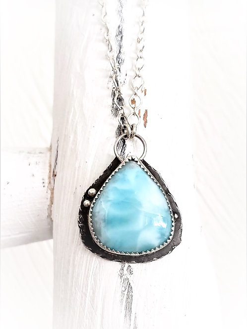 LARAMAR NECKLACE MADE BY ART AND STONE HERE IN PAGOSA ONE-OF-A-KIND