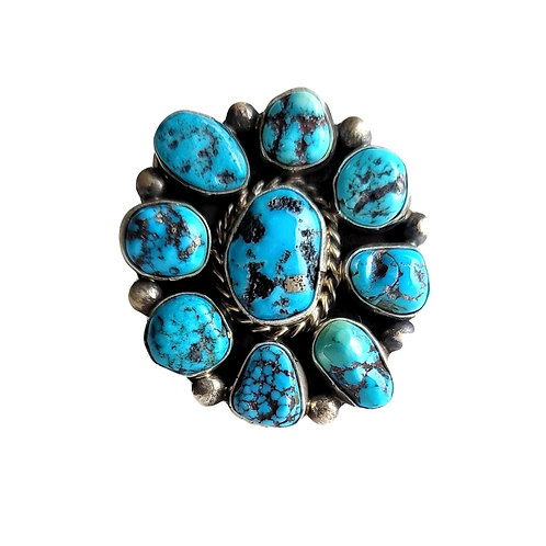 NATIVE MADE KINGMAN CLUSTER NUGGET RING