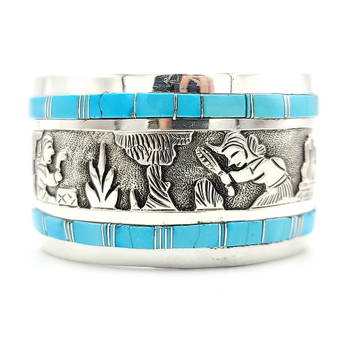 FLOYD BENCENTI SLEEPING BEAUTY HEIRLOOM TURQUOISE CUFF