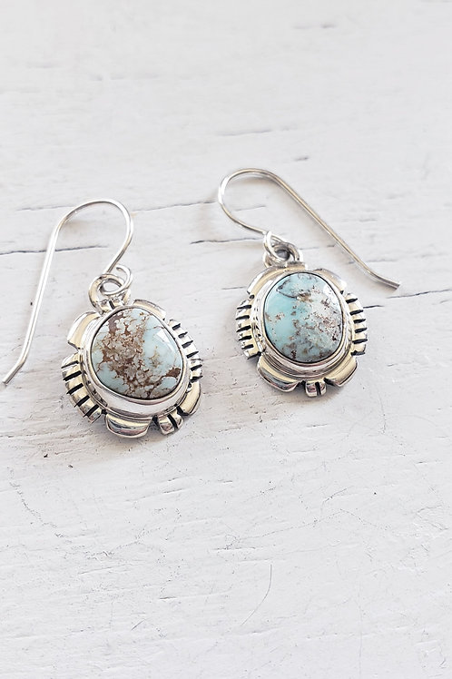 DRY CREEK FRENCH WIRE TURQUOISE EARRINGS