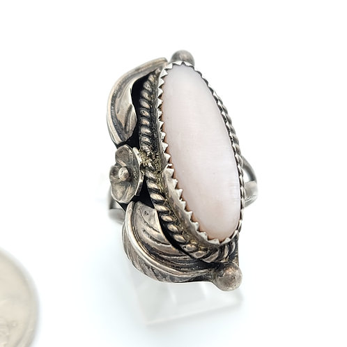 OLD PAWN MOTHER OF PEARL NAVAJO RING
