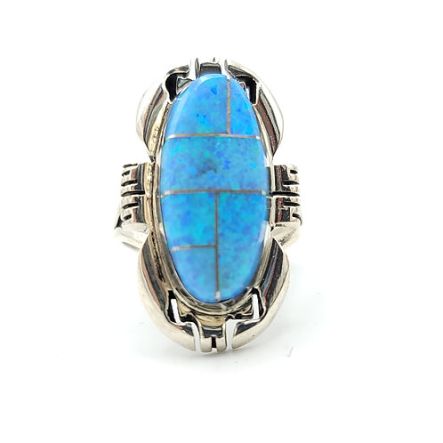 SZ 7.5 OPAL INLAY RING