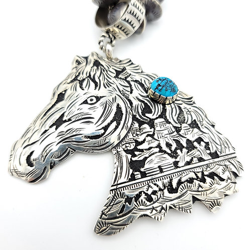 STORY TELLER HORSE HEAD TURQUOISE PENDANT