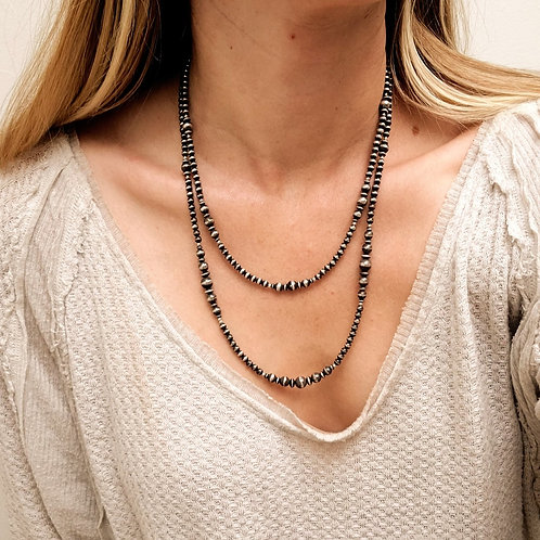 """22"""" DOUBLE STRAND NAVAJO PEARL NECKLACE"""