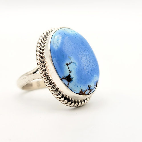 GOLDEN HILLS TURQUOISE RING SZ 8