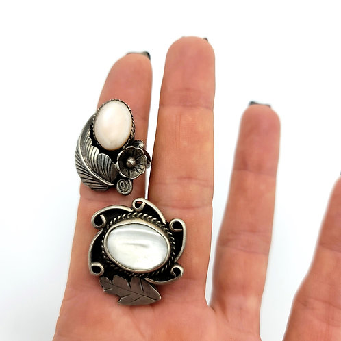 OLD PAWN MOTHER OF PEARL RING