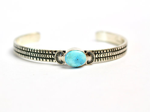 BEAUTIFUL GOLDEN HILLS TURQUOISE CUFF BRACELET