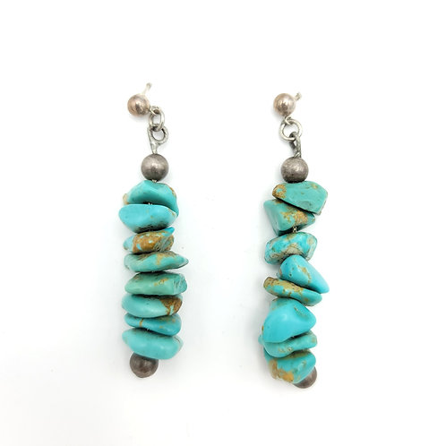 DEAD PAWN NUGGET TURQUOISE EARRINGS