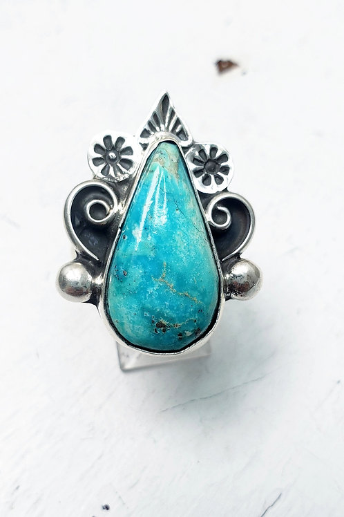TURQUOISE RING HANDMADE BY MARLENA TOM