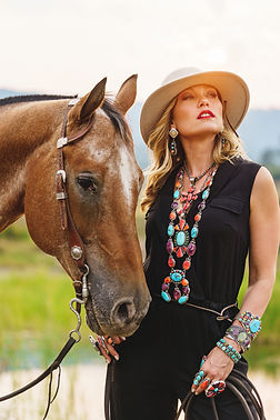 Appaloosa Horse and Model for Southwest Turquoise Jewelry Genuinely Native made