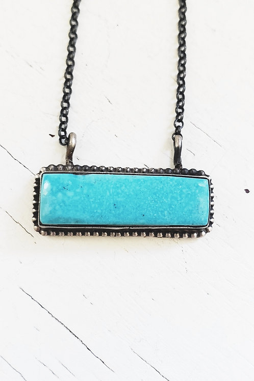 HITCHING POST TURQUOISE AND STERLING NECKLACE