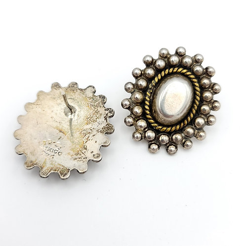 VINTAGE SILVER MEXICO POST EARRINGS