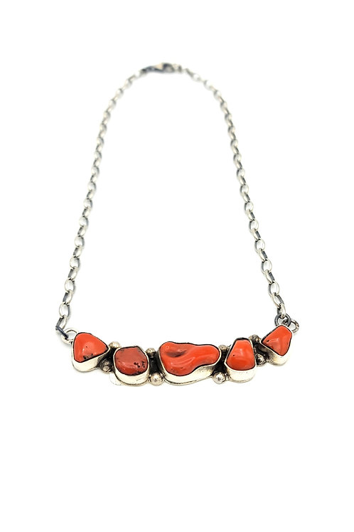 ZUNI CORRAL ROW NECKLACE