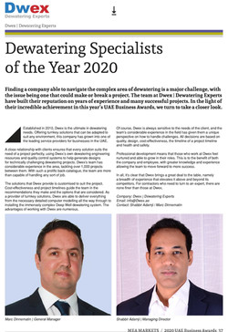 Dwex Dewatering | UAE Business Award 2020 | Dewatering For Companies in Dubai | AbuDhabi | Bahrain