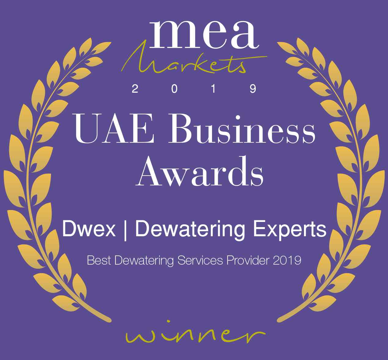 Dwex Dewatering | UAE Business Award 2019 | Dewatering For Companies in Dubai | AbuDhabi | RAK | UAQ