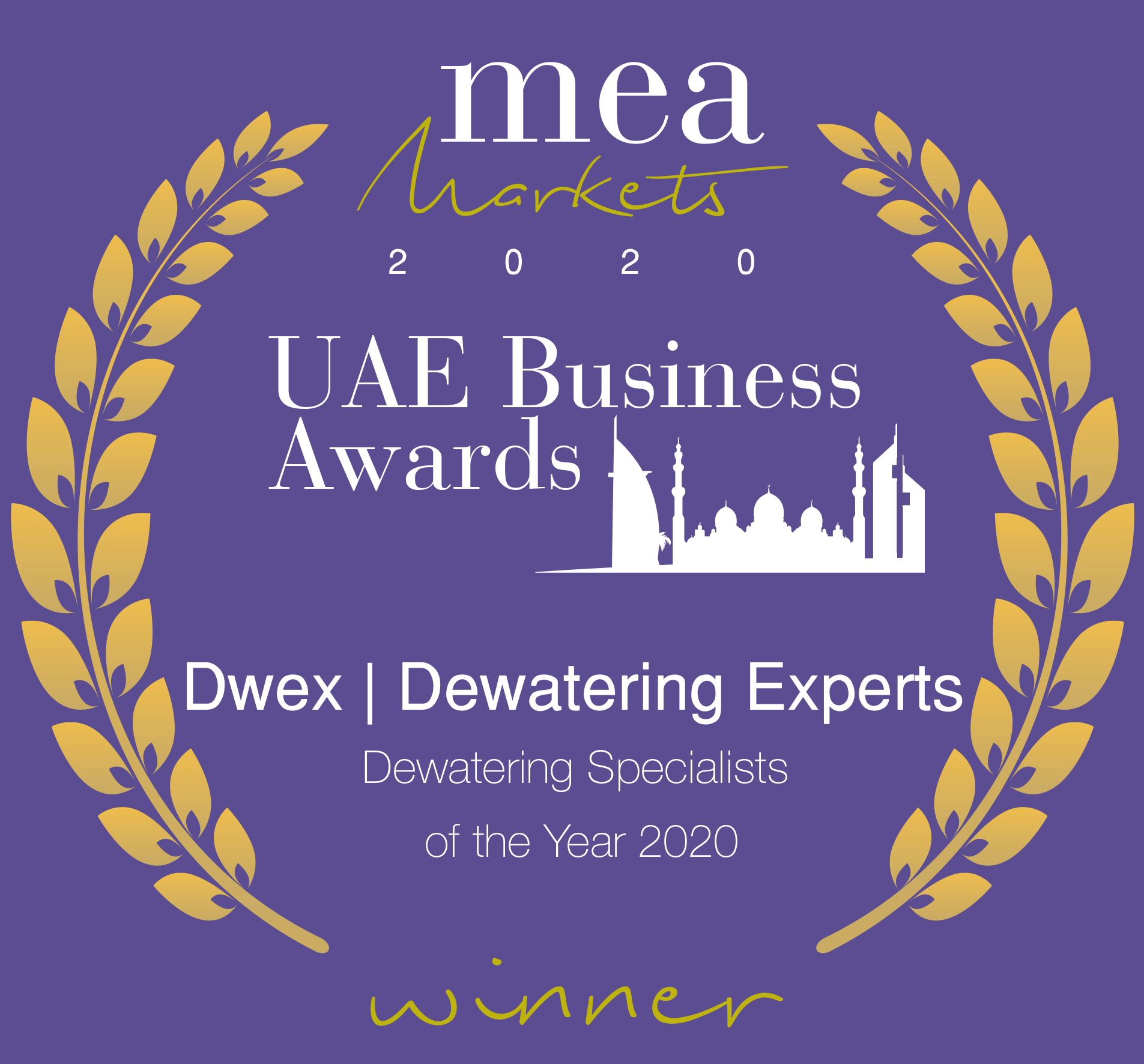 Dwex Dewatering | UAE Business Award 2020 | Dewatering For Companies in Dubai | Abu Dhabi | Sharjah