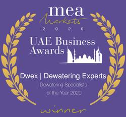 Dwex Dewatering | UAE Business Award 2020 | Dewatering For Companies in Dubai | Abu Dhabi | Sharjah