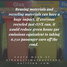 Reusing materials and recycling material