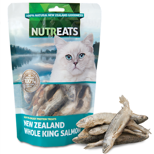 Nutreats Whole King Salmon Premium Cat Treats 50g