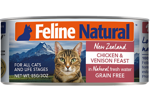 Feline Natural Chicken & Venison Feast 85g