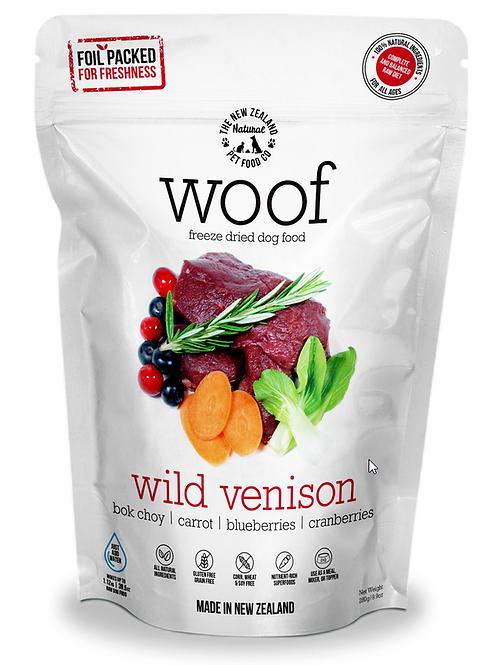 The NZ Natural Pet Food Co Woof Wild Venison Freeze Dried Dog Food 1.2kg