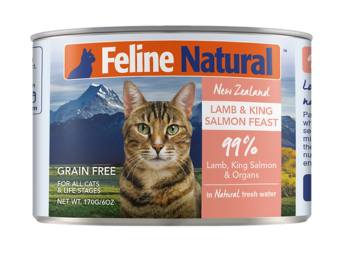 Feline Natural Lamb & King Salmon Feast 170g