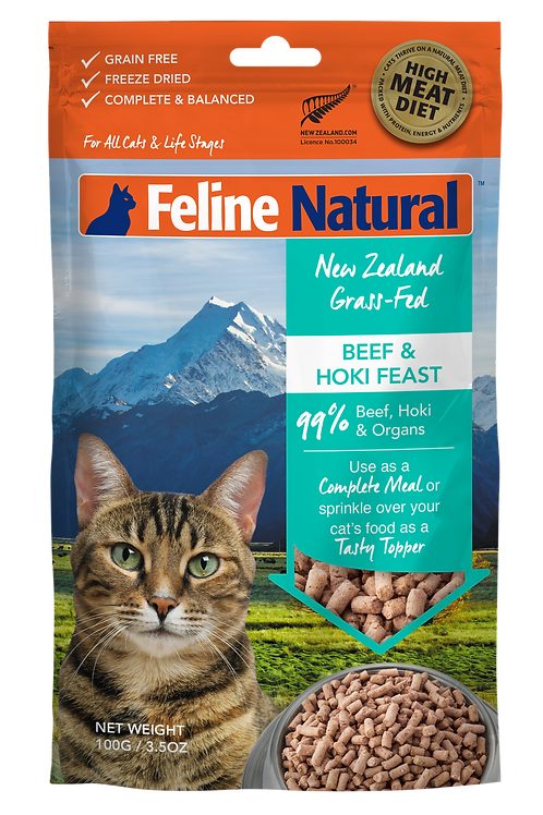 Feline Natural Beef & Hoki Feast 100g