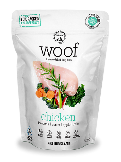 The NZ Natural Pet Food Co Woof Chicken Freeze Dried Dog Food 1.2kg