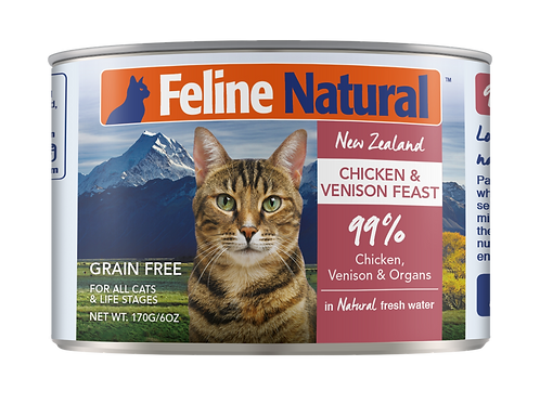 Feline Natural Chicken & Venison Feast 170g