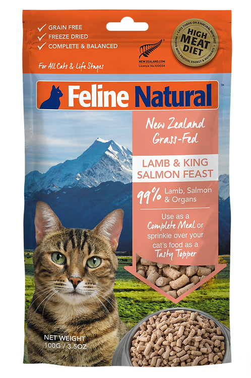 Feline Natural Lamb & Salmon Feast 100g