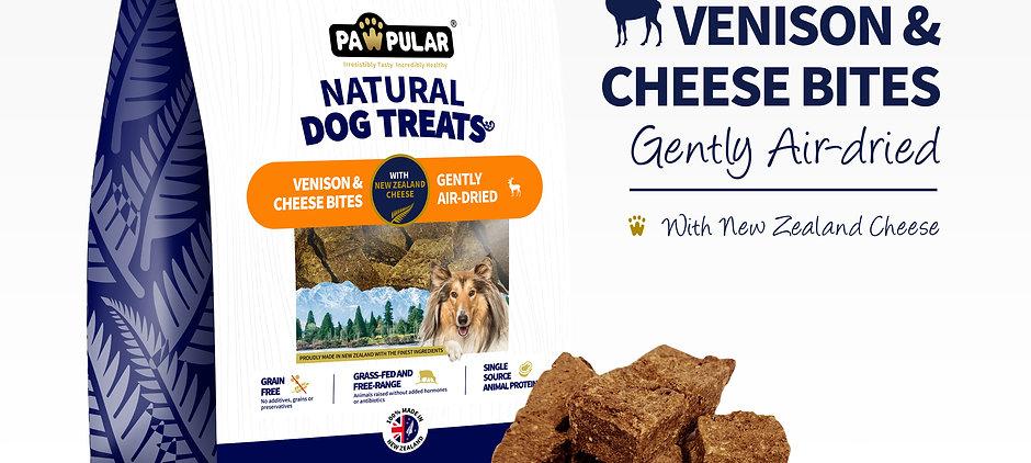 Pawpular Venison & Cheese Bites 750g