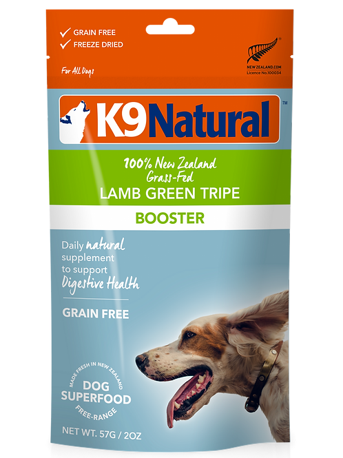 K9 Natural Lamb Green Tripe Supplement Topper 57g fro Dogs
