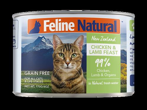 Feline Natural Chicken & Lamb Feast 170g