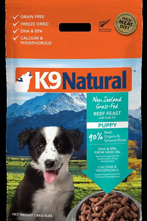 K9 Natural Freeze Dried Hoki Beef Puppy Feast 1.8kg