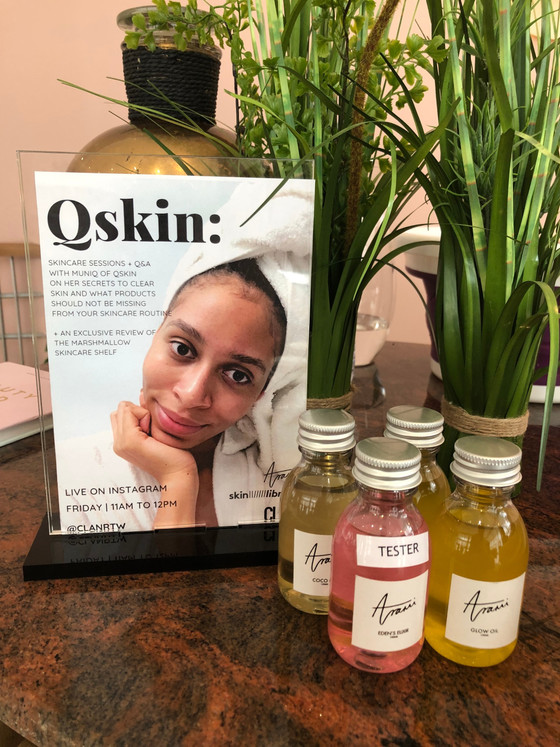 Qskin Skincare session at CLAN